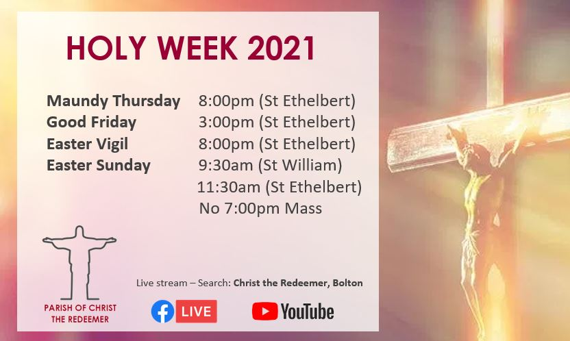 Holy Week Service Times