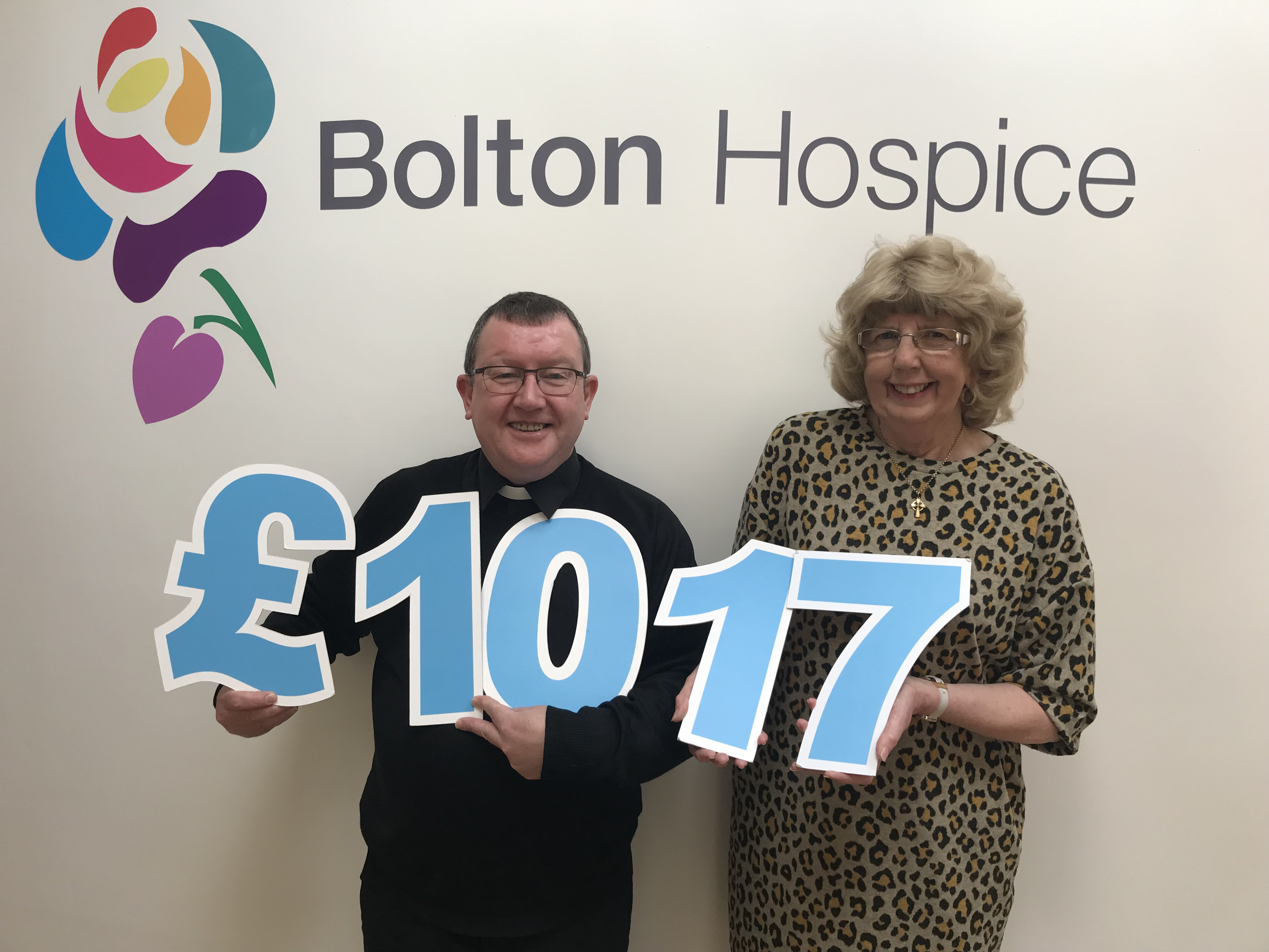 Presentation of Cheque to Bolton Hospice 2019